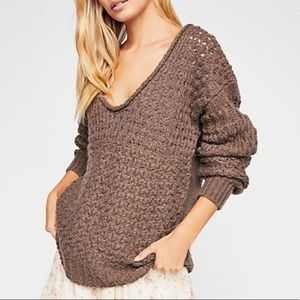 Free People Crashing Waves Pullover Sweater Small